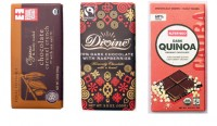 Equal Exchange, Divine Chocolate and Alter Eco Fair Trade Chocolate Bars