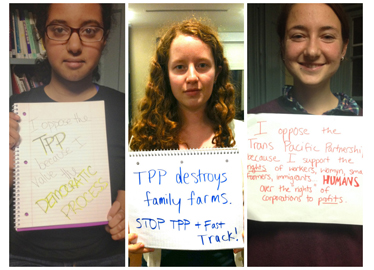 Take Action: Tell Congress Vote No on TPP Fast Track