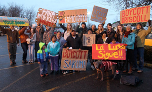 Strike at the Sakuma Brothers Berry Farm in Washington