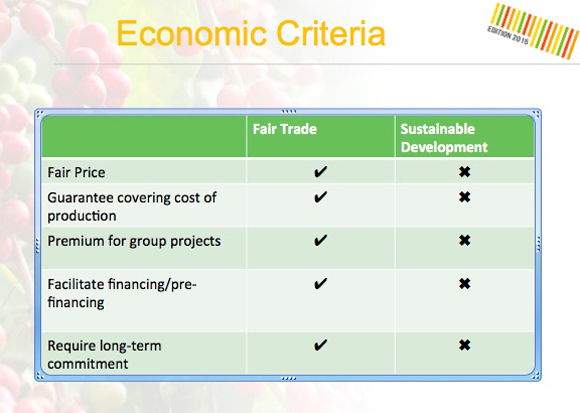Economic Criteria Table