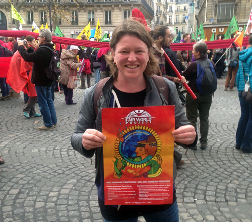 Kerstin Lindgren (FWP) takes to the streets with other advocates for climate justice