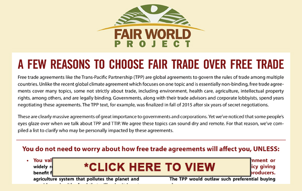 How Does Free Trade Affect You?