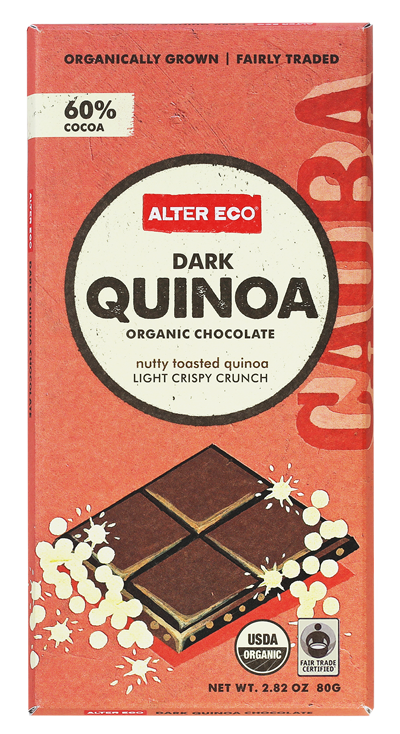 Alter Eco Fair Trade Organic Chocolate with Quinoa