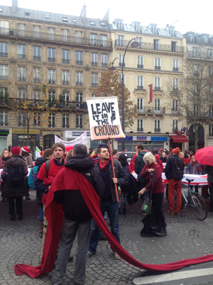 Protesters in Paris Global Climate 2015