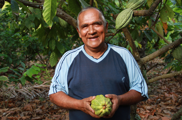 Cocoa Farmer Victor Haroleon - Photo Credit: Alter Eco