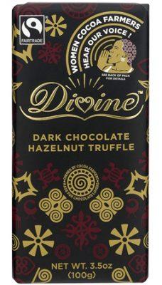 DIVINE'S DARK CHOCOLATE HAZELNUT TRUFFLE
