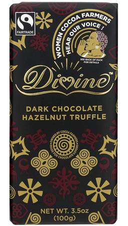 DIVINE'S DARK CHOCOLATE HAZELNUT TRUFFLE