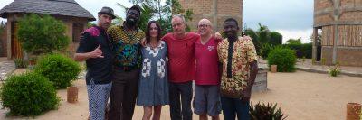 David Bronner, Olowondjo, Dana Geffner, Gero, Ryan Zinn, at Alaffia in Togo