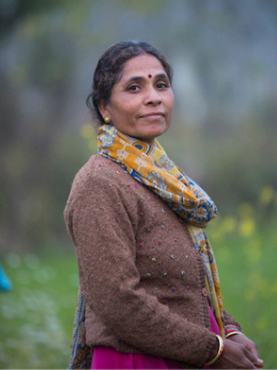 Farmer Neema Sati, India - Photo by Sue Price