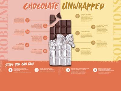 Chocolate bar infographic