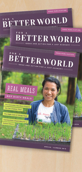 For a Better World Issue 18 - Cover Picture
