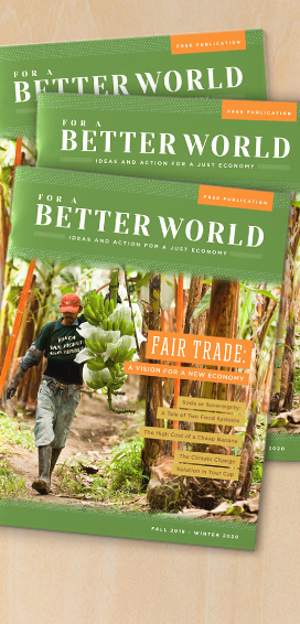 For a Better World - Issue 19 - front cover- Stacked