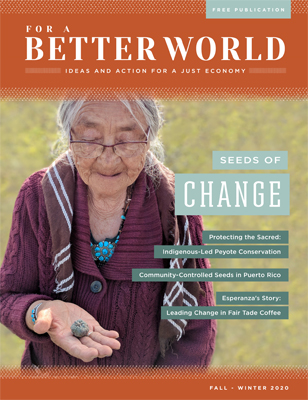 For a Better World Issue 20 - Fall 2020 - Front Cover